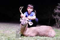 Whitetail buck scoring 70